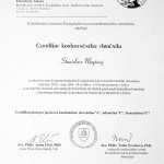 Stanislava Moyšová - certifikát konferenčného tlmočníka